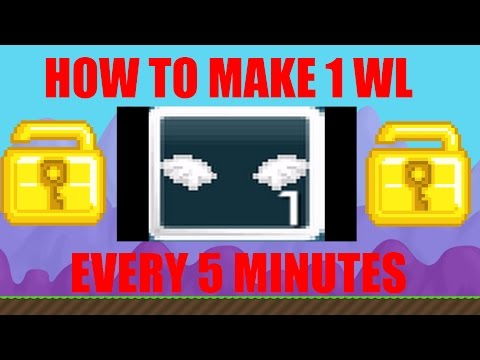 HOW TO MAKE 1 WL EVERY 5 MINUTES!!?! [NO FARMING] (Growtopia)