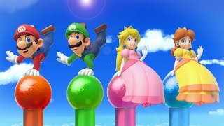 Super Mario Party MiniGames - Mario Vs Luigi Vs Daisy Vs Peach (Master Cpu)