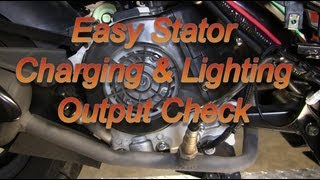 Easy 50cc Scooter Stator Charging / Lighting Check : 139QMB GY6 50 QMB139 49cc