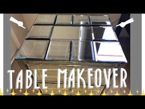 D.I.Y | How To Fix A Cracked Mirrored Table (Dollar Store Style)