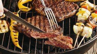 Муж на кухне: говяжий стейк на гриле за 2 минуты. ХОЧЕТСЯ МЯСА КУСОЧЕК...