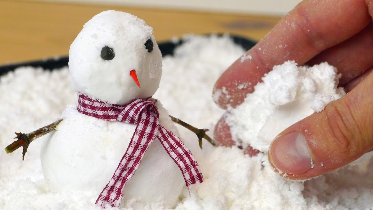 Wanna Build a Snowman How to Make Fake Snow YouTube