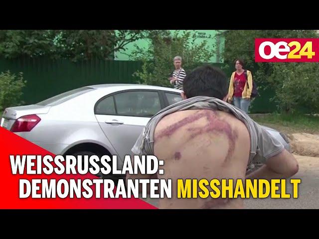 Weissrussland: Demonstranten misshandelt