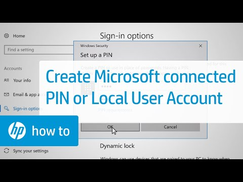 Creating a PIN for a Microsoft-connected or Local User