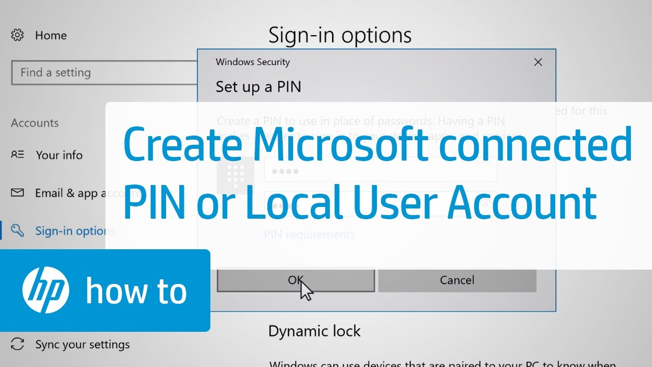how to add pin password on windows 10