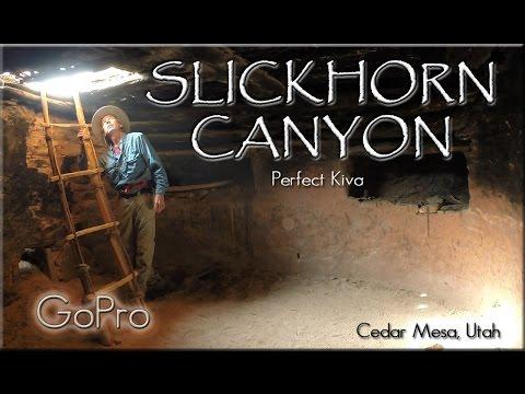 Slickhorn Canyon, Perfect Kiva, Cedar Mesa, Utah. Bears Ears National Monument
