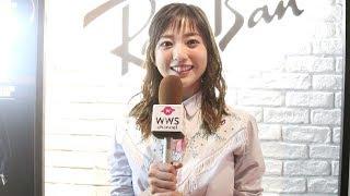 28日、タレントの伊藤千晃が渋谷に新しくオープンするRay-Banのフラッグ...