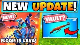 Fortnite FLOOR IS LAVA LTM + Infantry Rifle Vault?! - 5 New Update Things in Battle Royale!