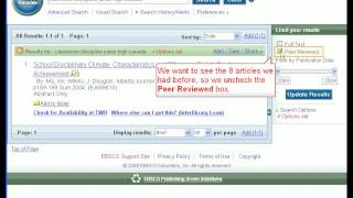 EBSCO 2.0 ERIC Basic Search Demo