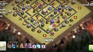 Clash of clans town hall 11 Electro dragon attack strategy