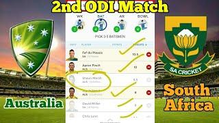 AUS vs SA 2nd Odi Match Dream11 | Australia vs South Africa dream11 | aus vs sa playing11