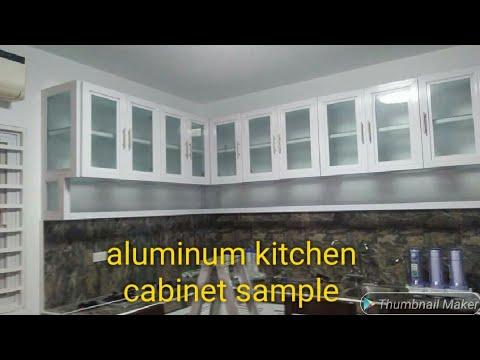 Aluminum kitchen cabinet sample