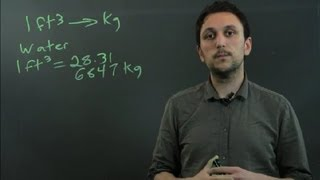 How to Convert Cubic Feet to Kilos : Triangles & Conversions in Math
