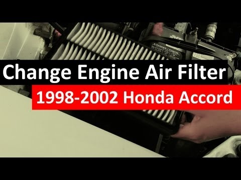 How to Change Engine Air Filter 1998-2002 Honda Accord [Engine Air Filter Replacement] 6th gen