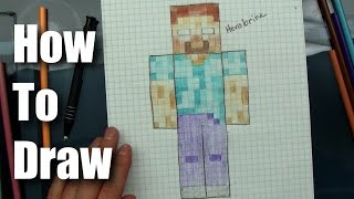 How To Draw - Herobrine from Minecraft