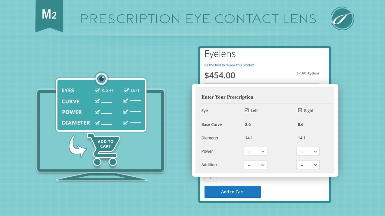 Prescription Eye Contact Lens Magento® 2 Extension