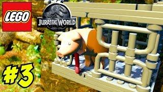 """★ LEGO Jurassic World ★ EPISODE 3: """"CHRIS PRATT & THE PIGGY"""" (Let"""