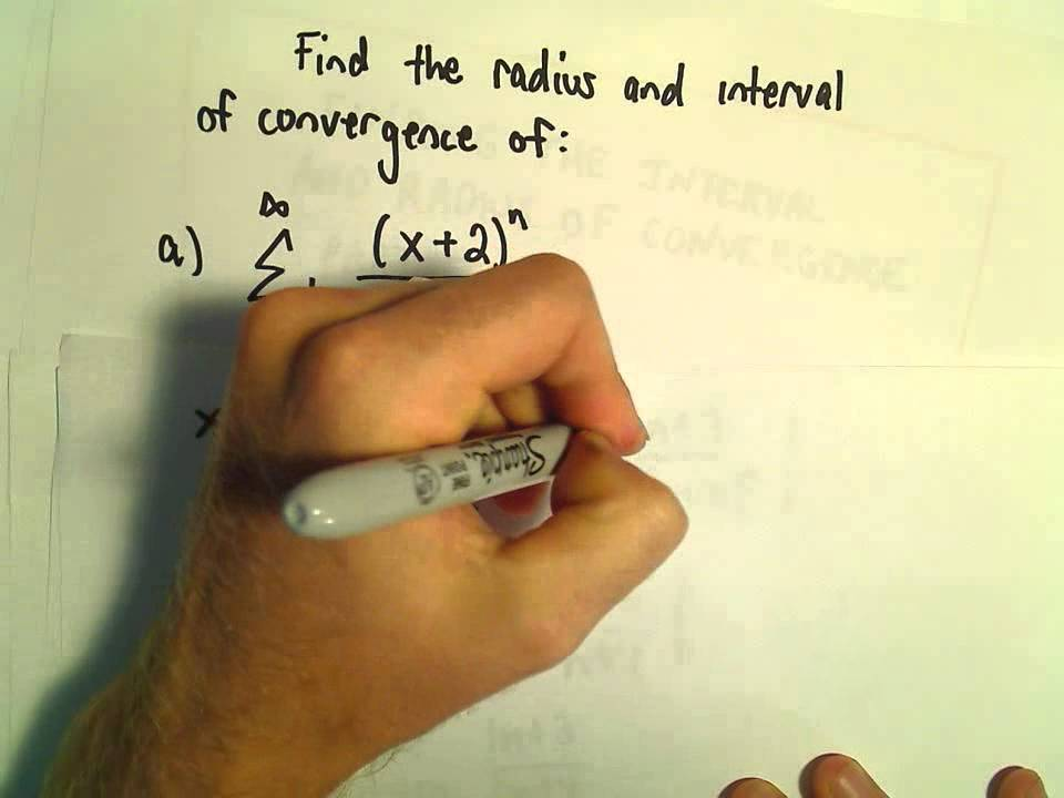 Interval and Radius of Convergence for a Series, Ex 4