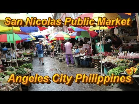San  Nicolas Public Market : Angeles City Philippines