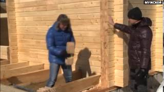 Строительство деревянного дома из клееного бруса(Заказать постройку деревянного дома вы можете нашем сайте: http://fr-dom.justclick.ru/brus Строительство деревянных..., 2013-08-13T14:20:46.000Z)
