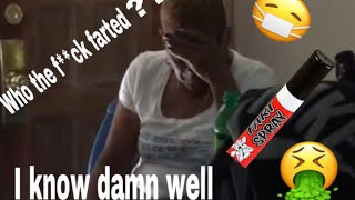 FART SPRAY PRANK ON GRANDMA!!! (SHE CUSSED ME OUT!!😂😬)