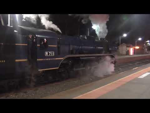 R711 Steam Locomotive  Private Charter Kangaroo Flat Station 2018