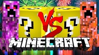 Minecraft: NEW YEAR LUCKY BLOCK CHALLENGE | Firework Creeper Battles!!