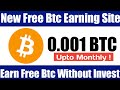 Best Free Bitcoin Earning site 2020  Earn Btc Without ...