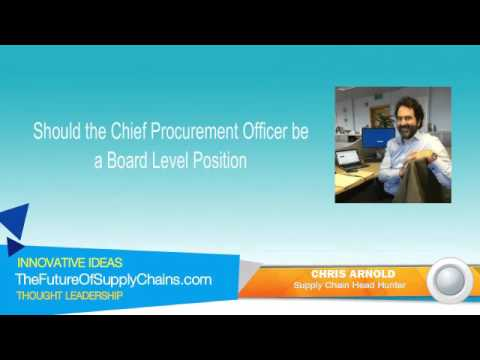 Should the Chief Procurement Officer be a Board Level Position