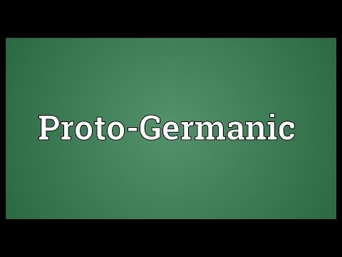 Proto-Germanic Meaning