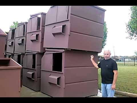Walk Through Overview 8 Cubic Yard Front Load Dumpster By