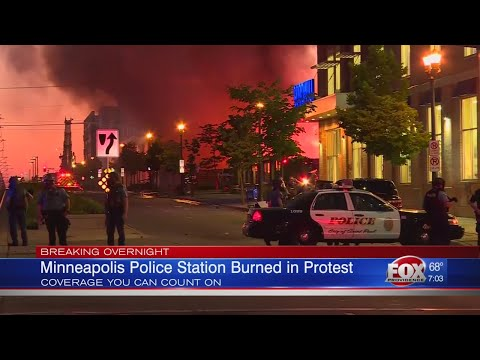 Minneapolis Police Station Burned In Protest