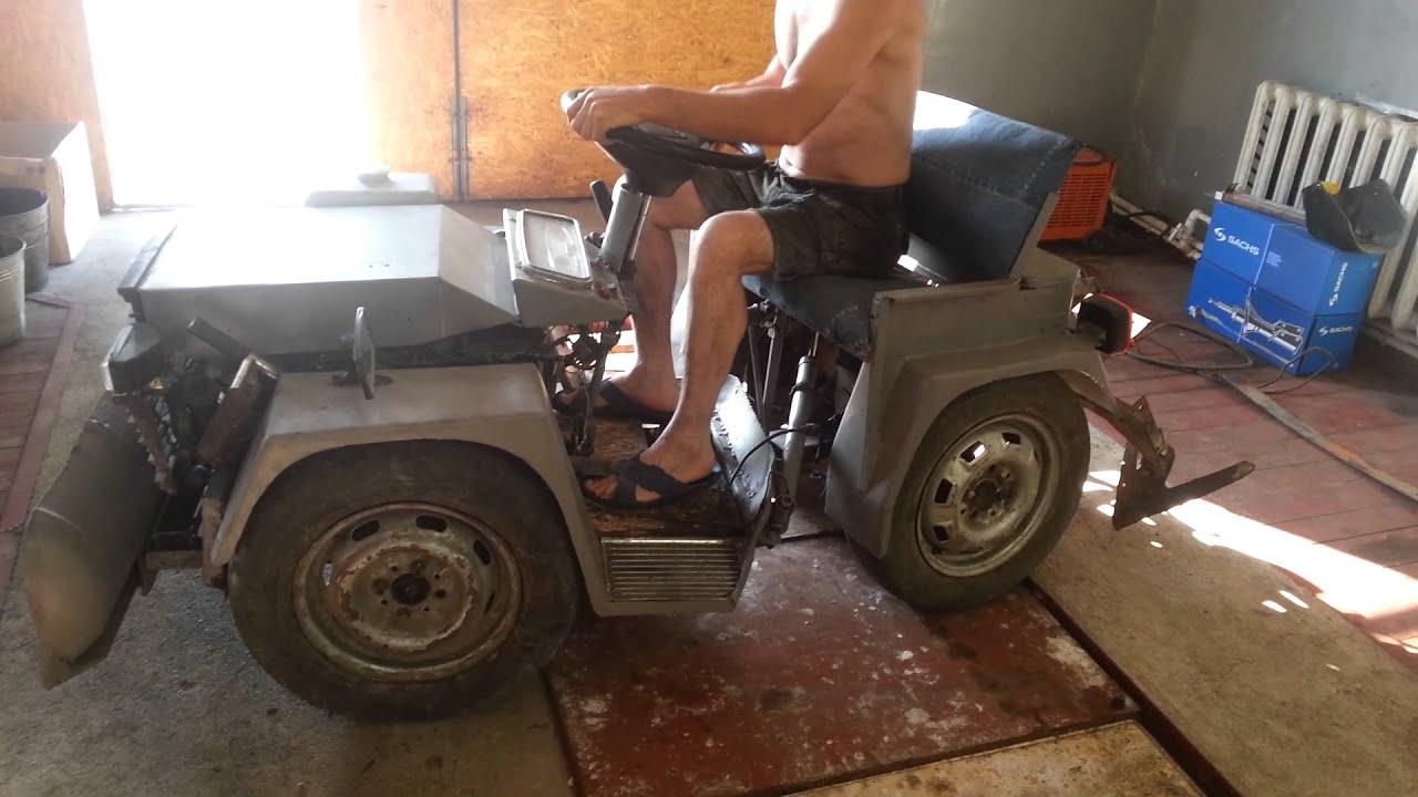 Минитрактор из мотороллера своими руками фото 558