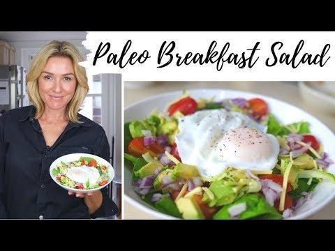 PALEO BREAKFAST IDEA Poached Egg Breakfast Salad // MeMore
