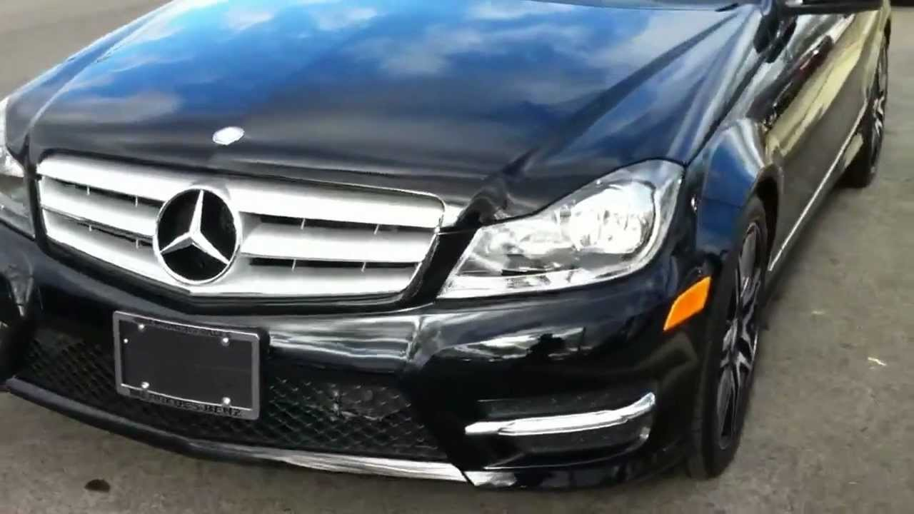 2013 black c300 4matic sport package youtube for 2013 mercedes benz c300 4matic