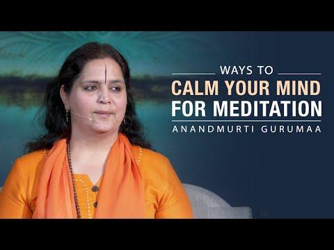 Ways To Calm Your Mind For Meditation   Anandmurti Gurumaa (English)