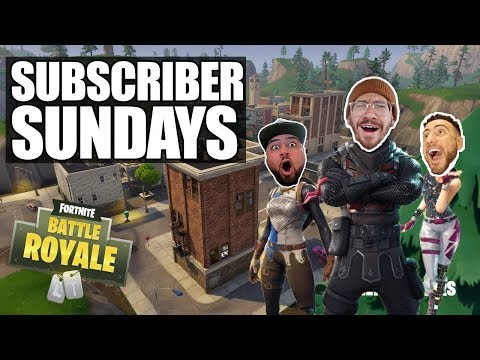SUBSCRIBER SUNDAYS *PLAYING WITH VIEWERS*!! FORTNITE BATTLE ROYALE WITH TEAM ALBOE!!