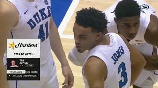 Tre Jones Highlights Eastern Michigan @ Duke 2018.11.14