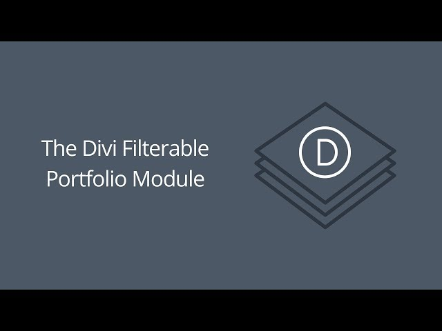 The Divi Filterable Portfolio Module