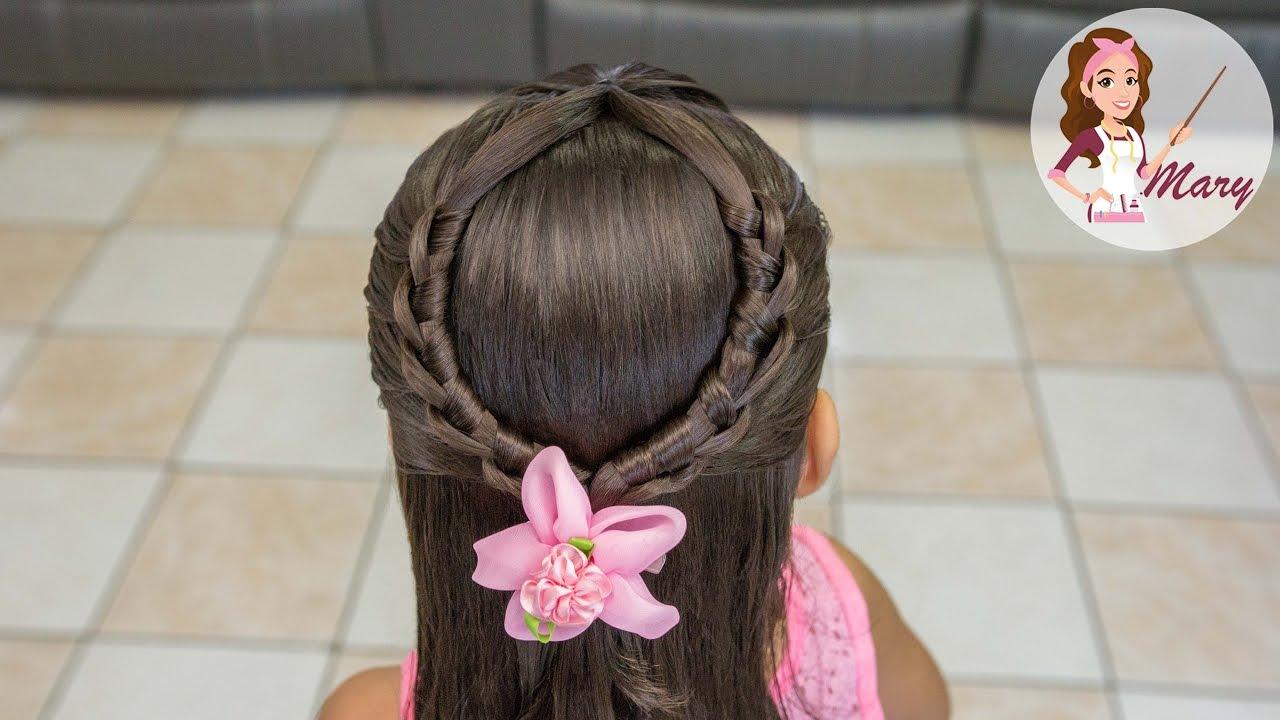 Peinado De Herradura Facil Y Rapido Para La Escuela