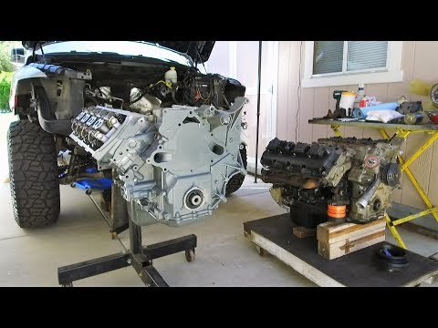 HEMI Swap with Jasper Engines Replacement 5.7 in a Dodge Ram