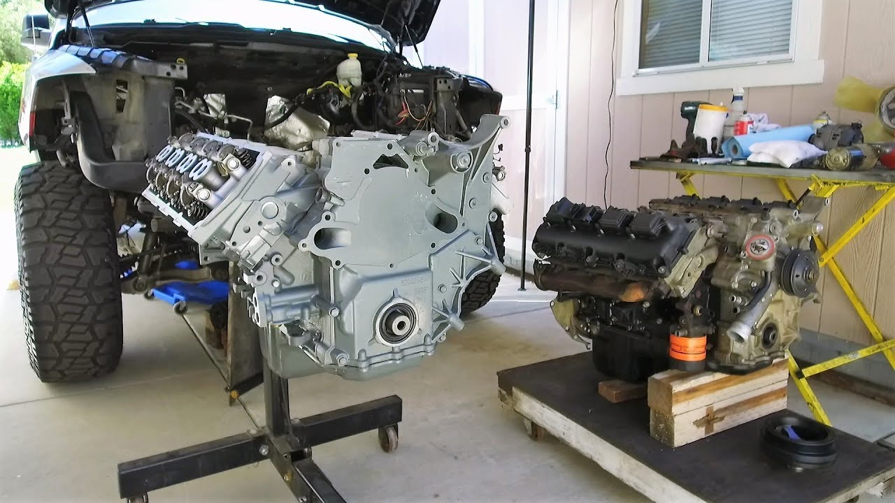 HEMI Swap with Jasper Engines Replacement 5.7 in a Dodge ...
