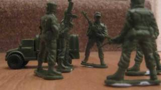 Toy Green Soldiers stop motion animation project