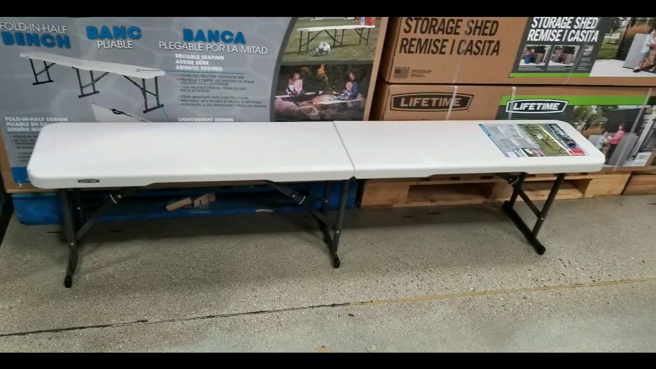 - Costco! Lifetime 6 FT Portable Folding Bench! $29! On Sale For $23