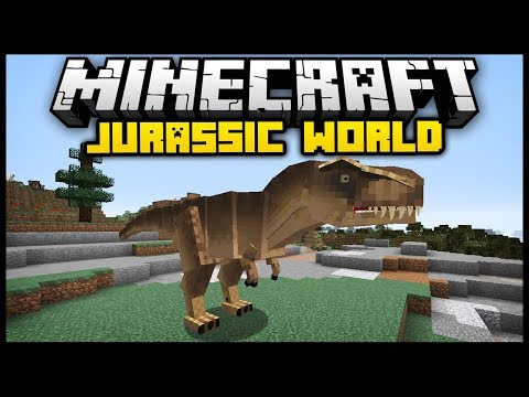 Minecraft JURASSIC CRAFT WORLD MOD (Mod Showcase)