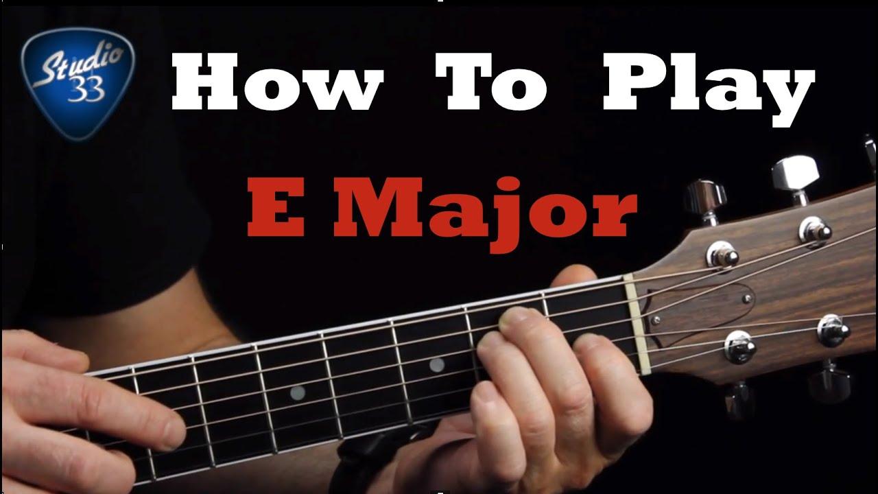 E Major Chord Guitar Images Basic Guitar Chords Finger Placement