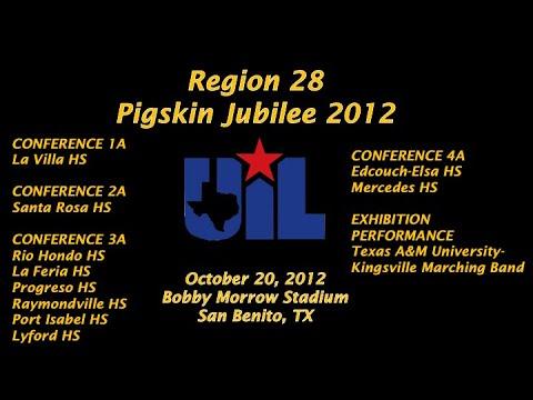 Region 28 Pigskin Jubilee 2012 - Part 1 - 1A-4A Bands