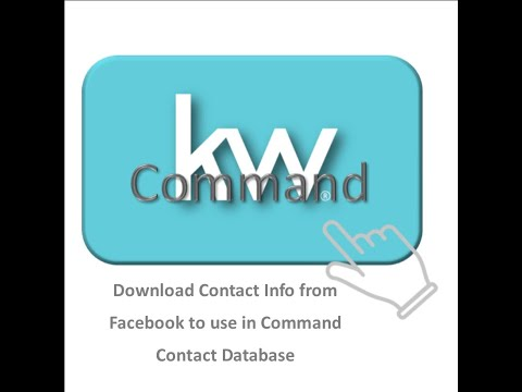 KW Command | How To Download Your Facebook Contact Info & Import To Command Using EXCEL Office 365