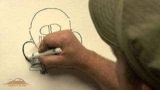 How to Draw a VW Bug - The Rusty VW