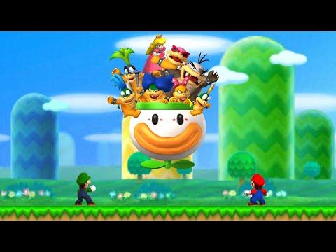 New Super Mario Bros. 2 - 100% Walkthrough - World 1 (2 Player)